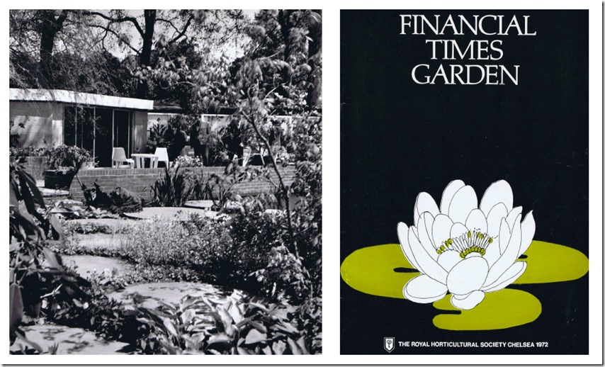John Brookes plan for the Financial Time Garden Chelsea Flower Show, 1972