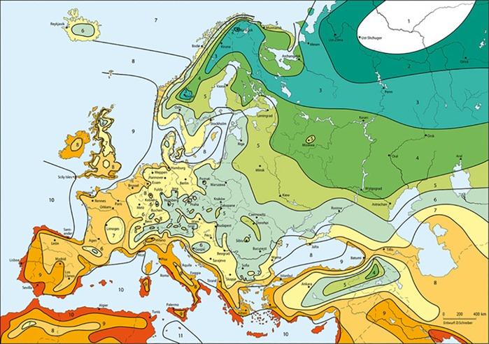 Gardening Zones Europe