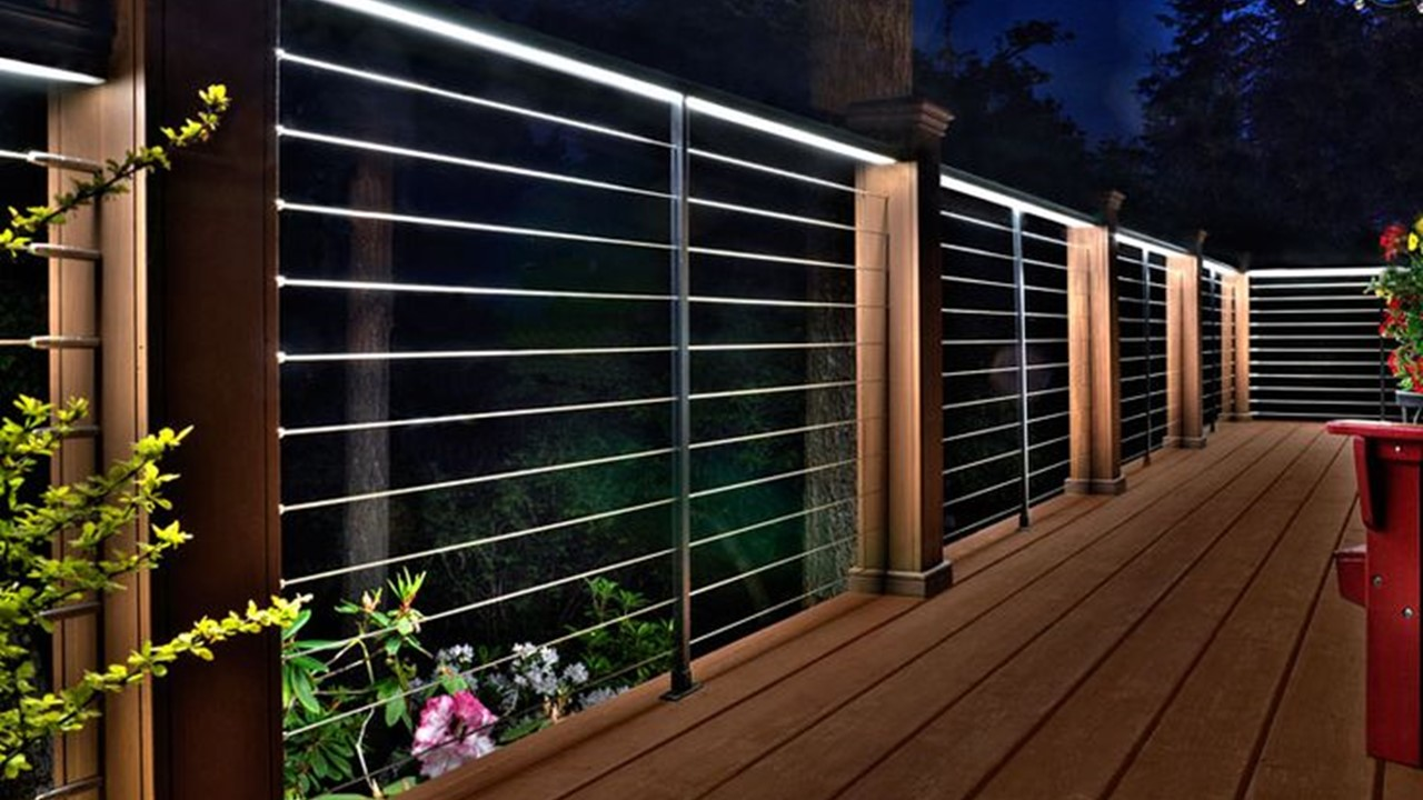 Low voltage lighting under handrails